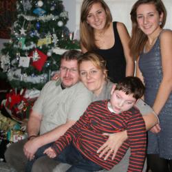 noël 2014 en famille avec papa, maman, Eva et Léa