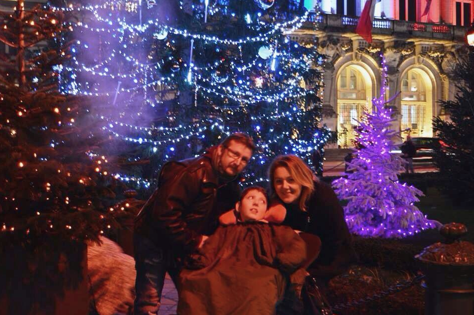 Noël 2015 avec papa et maman